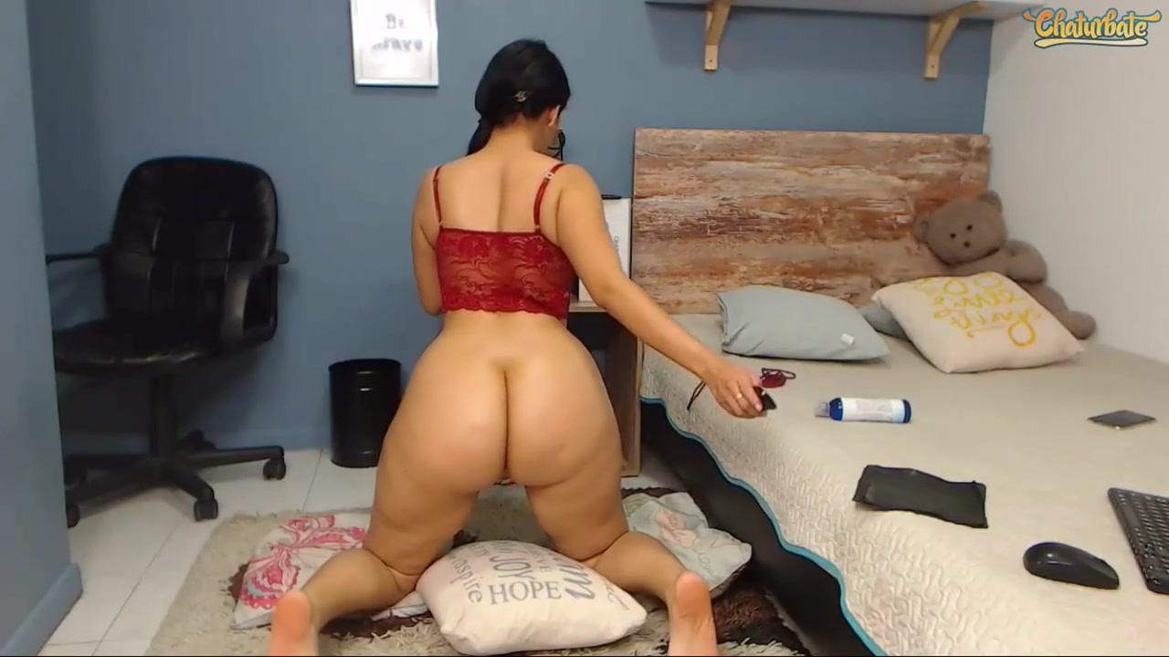 big ass latina rides dildo